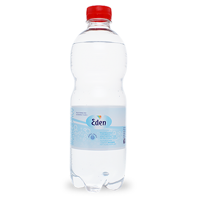 6 Flaschen Natürliches Mineralwasser mit Kohlensäure 50 cl Eden Springs